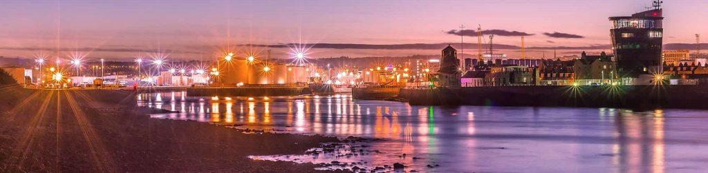 Sunset over Aberdeen Harbour | Aberdeen Douglas Hotel | Scotland